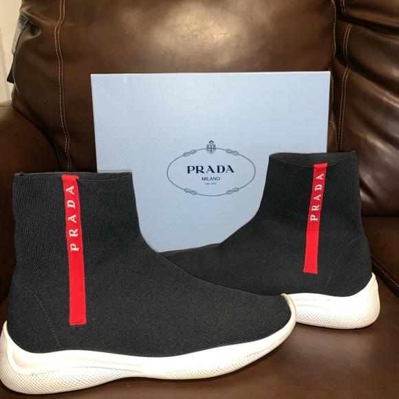 Prada Shoes | Prada Hitop Sock Sneakers